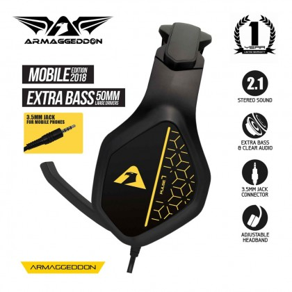 Armaggeddon Pulse 7 Mobile Gaming Headphones with Mic For Smartphones & Tablets