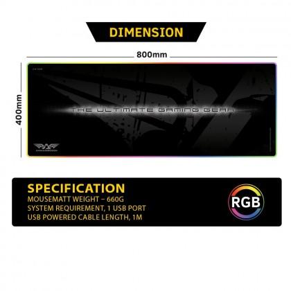 "Armaggeddon AS-33R RGB Gaming Mouse Pad (33"")"